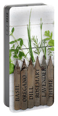 Portable Battery Charger featuring the photograph Herb Garden by Rebecca Cozart