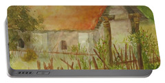 Portable Battery Charger featuring the painting Herb Garden by Vicki  Housel