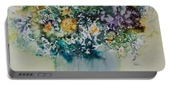 Portable Battery Charger featuring the painting Herbal Bouquet by Joanne Smoley