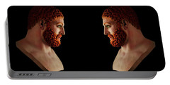 Portable Battery Charger featuring the mixed media Hercules - Gingers by Shawn Dall