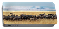 Herd Of Buffalo In Tall Kenya Grass Portable Battery Charger