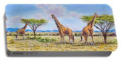 Herd Of Giraffe Portable Battery Charger