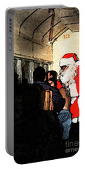 Portable Battery Charger featuring the photograph Here Come Santa by Kim Henderson