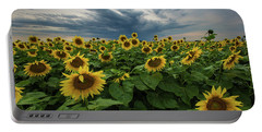 Here Comes The Sun Portable Battery Charger by Aaron J Groen