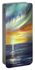 Here It Goes - Vertical Colorful Sunset Portable Battery Charger