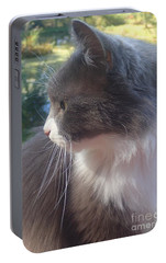 Portable Battery Charger featuring the photograph Here Kitty by Christina Verdgeline