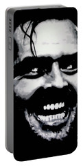 Heres Johnny Portable Battery Charger by Luis Ludzska