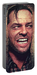Here's Johnny - The Shining  Portable Battery Charger by Taylan Apukovska