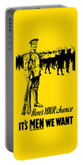 Here's Your Chance - It's Men We Want Portable Battery Charger