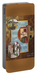 Portable Battery Charger featuring the painting Heritage by Judy Via-Wolff