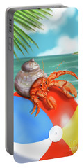 Hermit Crab On A Beachball Portable Battery Charger