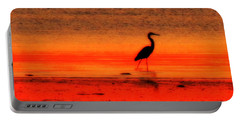 Heron At Dawn Portable Battery Charger