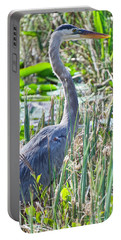 Heron By The Riverside Portable Battery Charger by Judy Kay