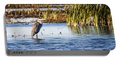 Heron - Horicon Marsh - Wisconsin Portable Battery Charger