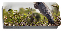 Heron In Nest Portable Battery Charger by Jim Gillen