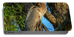 Heron In The Pine Tree Portable Battery Charger