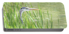 Portable Battery Charger featuring the photograph Heron In The Reeds by Anita Oakley
