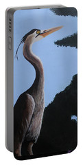 Heron In The Trees Portable Battery Charger