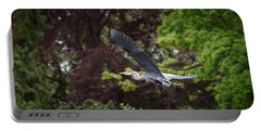 Heron In The Woods Portable Battery Charger