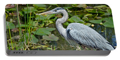 Heron On The River Bank Portable Battery Charger