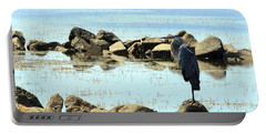 Heron On The Rocks Portable Battery Charger