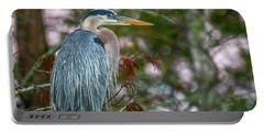 Heron Perched In Tree #2 Portable Battery Charger