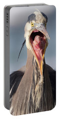 Heron With Attitude Portable Battery Charger