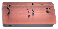 Herons At Sunrise Portable Battery Charger