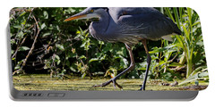 Portable Battery Charger featuring the photograph Herons Pond by Sue Harper