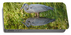 Heron's Reflection Portable Battery Charger by Jane Ford