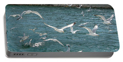 Herring Gulls At Pictured Rocks Portable Battery Charger