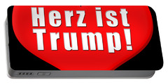 Herz Ist Trump Portable Battery Charger