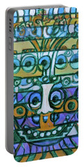 Portable Battery Charger featuring the painting  Hexagram-42-yi-increase by Denise Weaver Ross