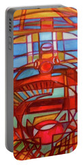 Portable Battery Charger featuring the painting Hexagram 48-jing-the Well by Denise Weaver Ross