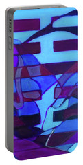 Portable Battery Charger featuring the painting Hexagram 52-gen-immovable by Denise Weaver Ross
