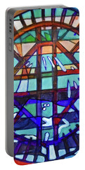 Portable Battery Charger featuring the painting Hexagram-53-jian-replenish by Denise Weaver Ross
