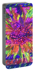 Portable Battery Charger featuring the painting Hexagram-55-feng-abundance by Denise Weaver Ross