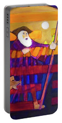 Portable Battery Charger featuring the painting Hexagram 56-lu-the Wanderer by Denise Weaver Ross