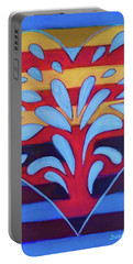 Portable Battery Charger featuring the painting Hexgram-25-wu-wang-hexagram by Denise Weaver Ross
