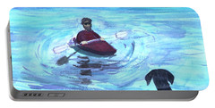 Portable Battery Charger featuring the painting Hey Where You Going  by Donna Walsh