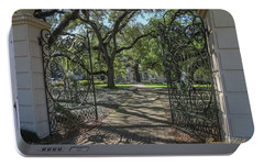 Portable Battery Charger featuring the photograph Heyman House Gates 1 by Gregory Daley  PPSA