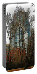 Portable Battery Charger featuring the digital art Hi-rise Living  by Stuart Turnbull