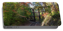 Portable Battery Charger featuring the photograph Hiawassee Loop Railroad Trestle by John Black