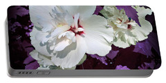 Portable Battery Charger featuring the photograph Hibiscus - Circa 2006 Saratoga, Ny by Iowan Stone-Flowers