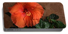 Hibiscus Fine Art Portable Battery Charger