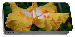 Hibiscus Golden Mist Portable Battery Charger