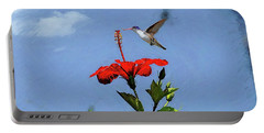 Portable Battery Charger featuring the photograph Hibiscus High by John Kolenberg