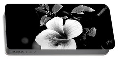 Portable Battery Charger featuring the photograph Hibiscus In The Dark by Lori Seaman