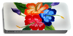 Portable Battery Charger featuring the painting Hibiscus by Jamie Frier