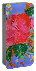 Hibiscus Motif Portable Battery Charger